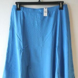 Talbots Knit Skirt, Delphinium Size L